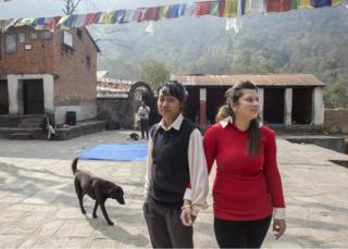Mandeera Bajracharya and Uma Silwal