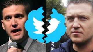 Richard Spencer and Tommy Robinson