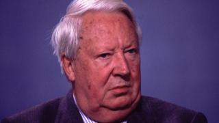 Sir Edward Heath in 1997