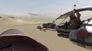 Screen shot from Star Wars: The Force Awakens Immersive 360 Experience
