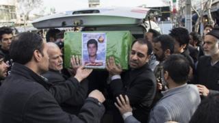 Funerals of Afghan fighters in Mashhad, Iran