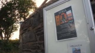 Syria poster in Brynberian