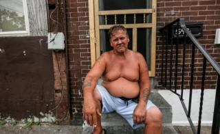 Joe Grone was pricked with a used needle walking near his home and the hospital suspected he was a user