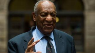 This file photo taken on 24 May 2017 shows Bill Cosby talking to the news media as he leaves the Allegheny County Courthouse in Pittsburgh, Pennsylvania.