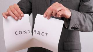 Contract being ripped up