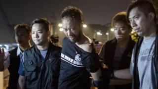 Ông Tsang bị đánh khi tham gia biểu tình năm 2014.