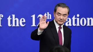 中国外交部长王毅在两会期间回答朝鲜问题。