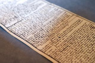 The manuscript of 'The 120 Days of Sodom' written by the Marquis de Sade, photographed in 2014