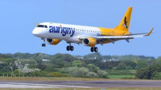 Aurigny's Embraer jet