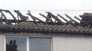 Damage to the roof