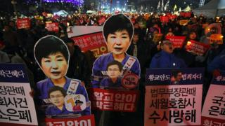Protests calling for the removal of South Korea's President Park Geun-hye enter their eleventh week in Seoul, 7 January 2017