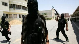 Hamas militants in Gaza (file photo)