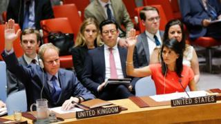 Birleşmiş Milletler Güvenlik Konseyi, Nikki Haley el kaldırıyor
