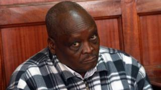 Kenyan Olympics Athletics Manager Michael Rotich looks on as he appears at Nairobi Court on August 10, 2016