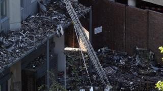 The wreckage of Grenfell Tower
