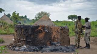 Inzu yatwitswe muri Sudani yepfo