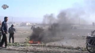 Video still released by Jaysh al-Islam