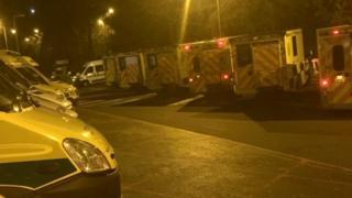 Ambulances at QA Hospital