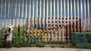 Woman at border