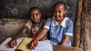 Pupils in Kenya