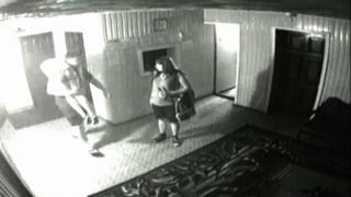 Съемка камеры наблюдения