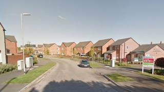 New build estate in Newport