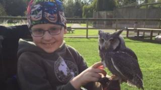 Alex with an owl