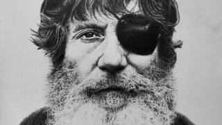 Jack O'Neill wearing his trademark eye patch
