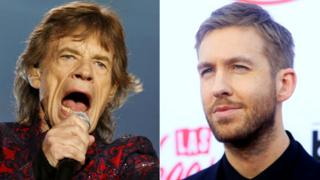 Mick Jagger and Calvin Harris