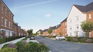 Artists impression of a street in the development