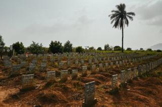 Waterloo Ebola Graveyard. Sierra Leone.