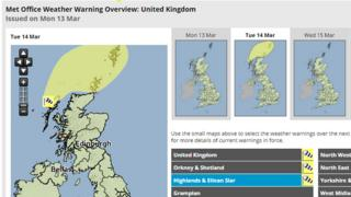 High winds warning