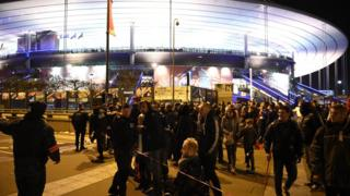 Fans were evacuated from the Stade de France after a series of explosions