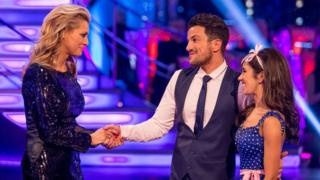 Tess Daly, Peter Andre and Janette Manrara