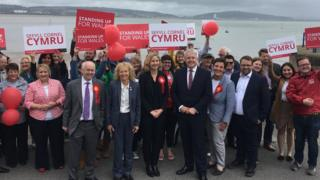 Labour celebrations in Mumbles