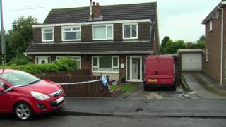 The house on Argyll View where the attack happened