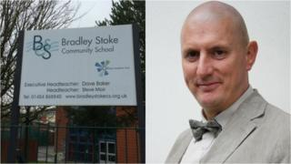 Bradley Stoke Community School and Olympus CEO Dave Baker