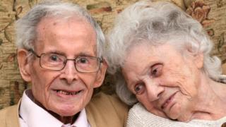 Ken and Margaret Harris celebrate