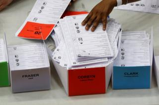 Ballots are counted at a counting centre in London, 9 June 2017.
