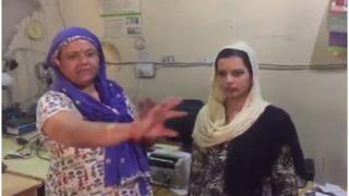 Bank employees Vimla Devi and Poonam