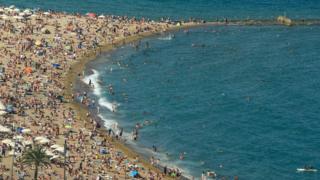 Beach at Barcelona