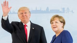 Donald Trump and Angela Merkel