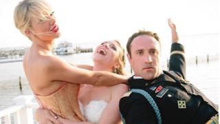 Taylor Swift, Kenya Smith and Max Singer