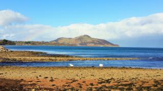 There is a marvellous view on the Holy Isle from Whiting Bay