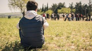 Omar, an unaccompanied child from Syria