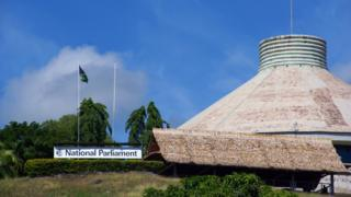 A view of the Solomon Islands parliament