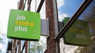 A job centre sign