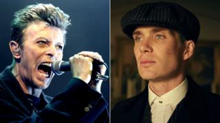 David Bowie and Cillian Murphy in Peaky Blinders