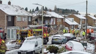 Gas explosion at house