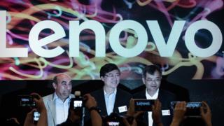 Lenovo's leaders in HK